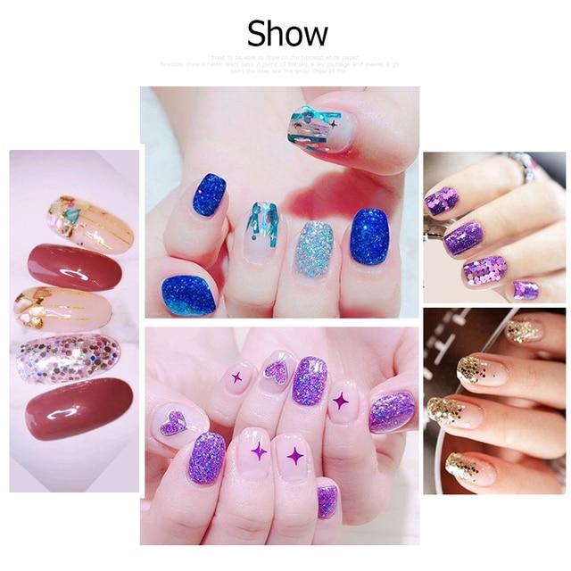 48 Bottles/Set Nail Art Sequins Glitter Powder Manicure Decoral Tips Polish Nail Stickers Mixed Design Case Set 3