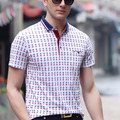 Classic Plaid Polo Shirts Brand Men Cotton Casual Business Polos Summer Short Sleeve Tee Shirts