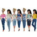 Crazy Sale Unique Style Jeans Suit for Barbie Cloth-fitting Pants Clothes for BJD Dolls