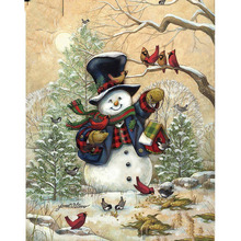Full Square/Round Drill 5D DIY Diamond Painting Christmas snowman 3D Embroidery Cross Stitch  Home Decor dispaint full square round drill 5d diy diamond painting teacup bird scenery 3d embroidery cross stitch 5d home decor a18408