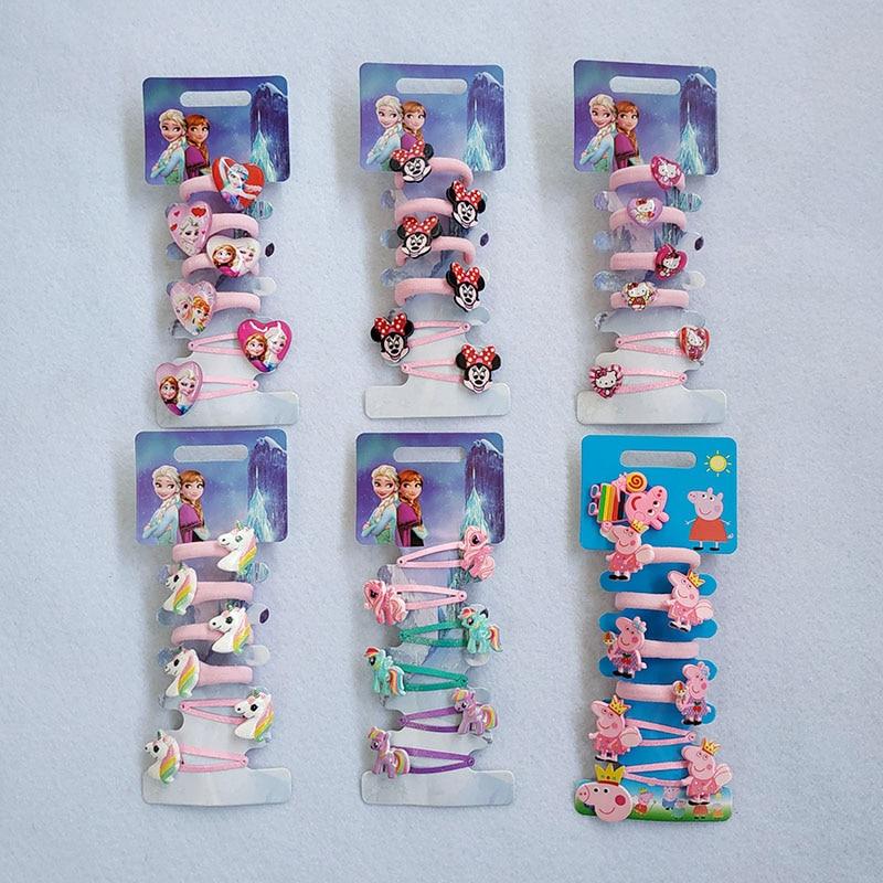 Cartoon Hair Gum Princess Elastic Rubber Band Children HairPins BB Hair Clips Headband Kids Hair Accessories Girl Hair Band