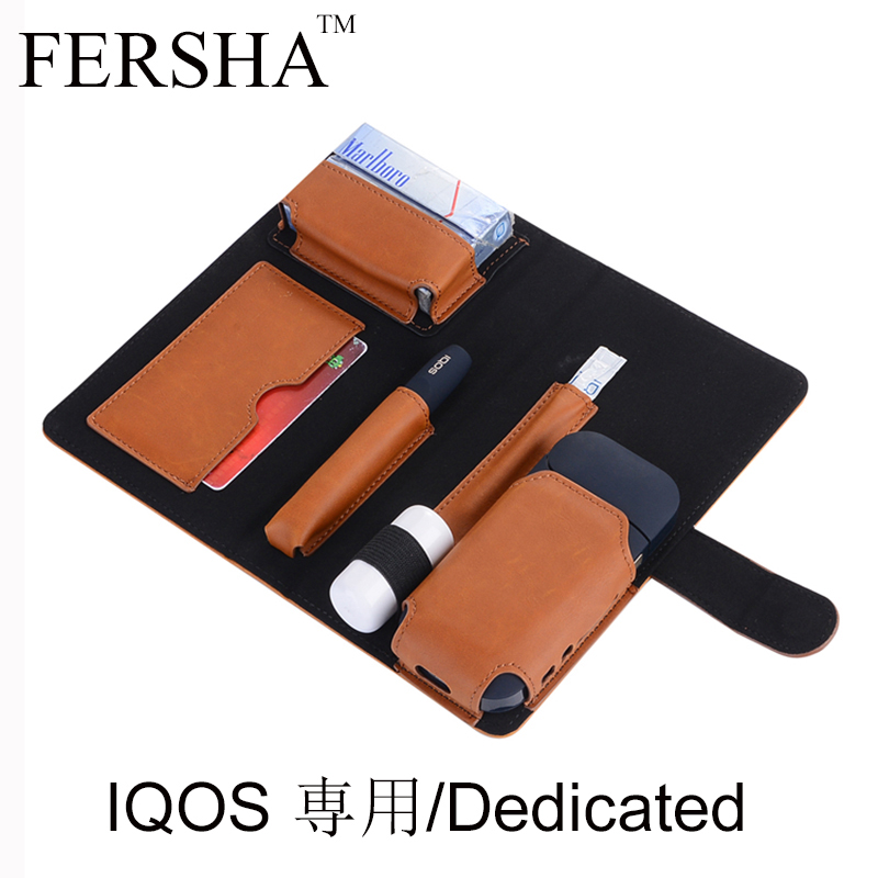 FERSHA Hot New leather Case For IQOS 2.4 Plus Electronic Cigarette Carrying case iqos Fashion storage bag baseus new visual leather case for iphone7 plus black