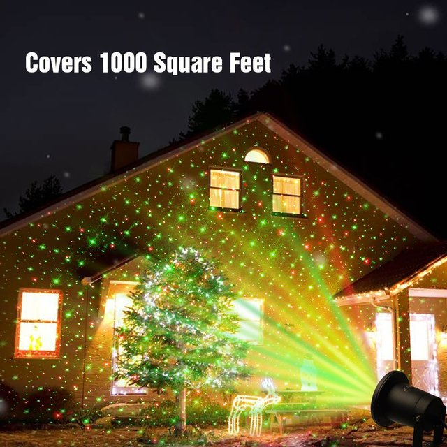 Outdoor Lawn Light Sky Star Laser Spotlight Light Show Landscape Projector  Lights Remote Christmas Decorations For - Outdoor Lawn Light Sky Star Laser Spotlight Light Show Landscape