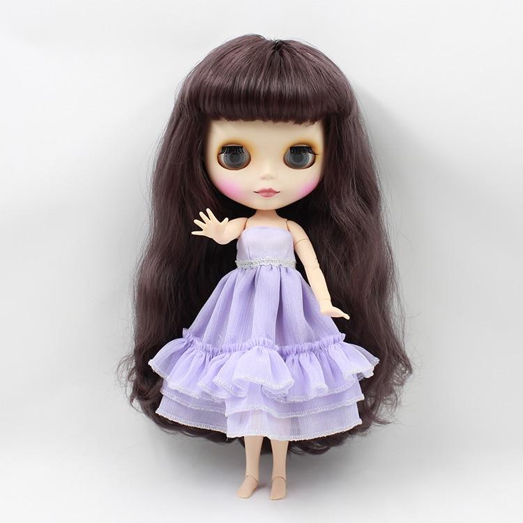 Blyth nude doll with joint body Deep purple long hair cute B female 12 fashion dolls Bjd doll deep purple deep purple stormbringer 35th anniversary edition cd dvd