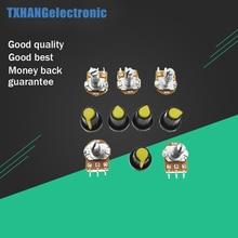 цена на 5PCS B10K 10K Ohm 3 Terminal Linear Stereo Taper Rotary Potentiometers