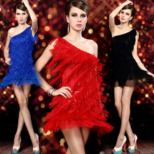 Stylish Sexy Evening Dresses Costumes Club Singer Dancer Short Special Blue Red Black