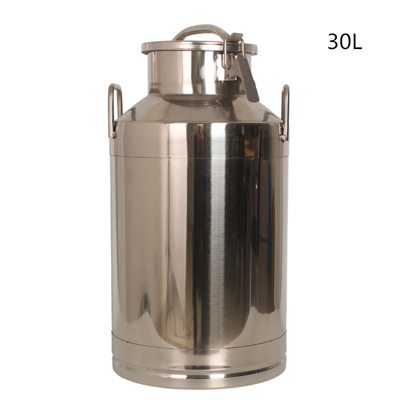 30L Stainless Steel Milk Can, Milk Transport Can, Bucket