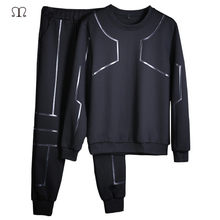 Men Sportwear Sets O-Neck Tracksuit Sets Long Sleeves Casual Sportsuit Sweatshirt Men+Pants Two Piece Track Suits Brand Clothing(China)