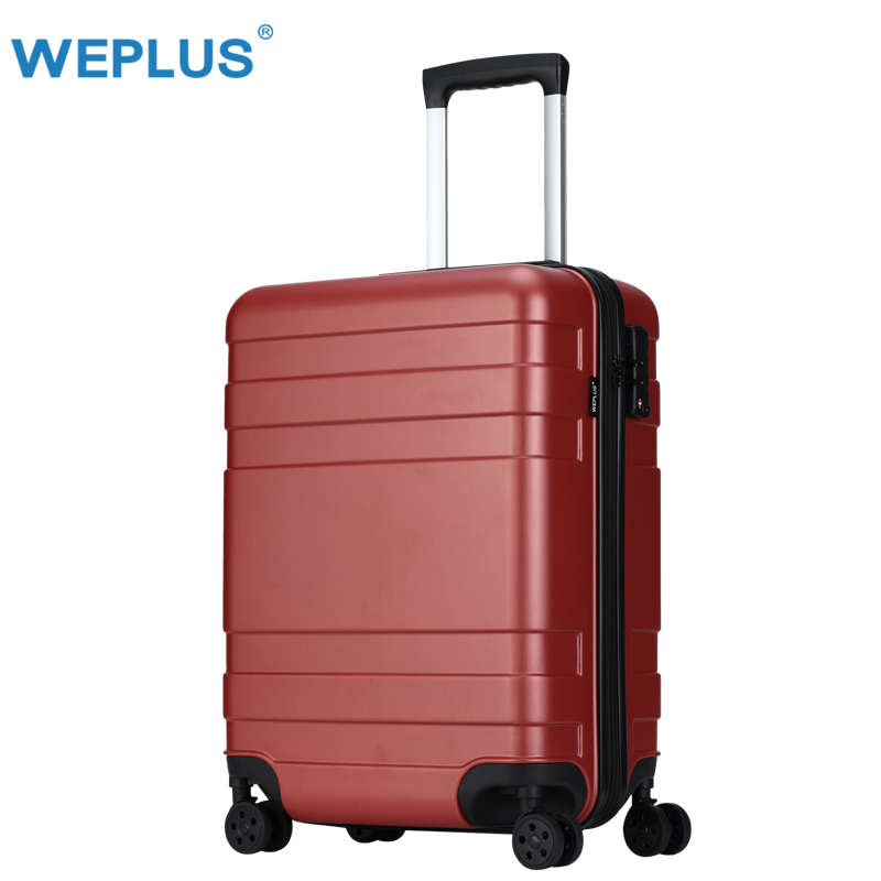 Red PC Suitcase Carry on Spinner Wheel Travel Vacation Luggage 202428 Anti-Scratch/Mute Wheels TSA Customs Lock drop shipping vintage suitcase 20 26 pu leather travel suitcase scratch resistant rolling luggage bags suitcase with tsa lock