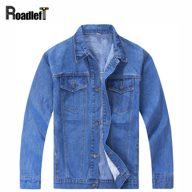 Male clothing classic style denim jacket coat Men casual ...