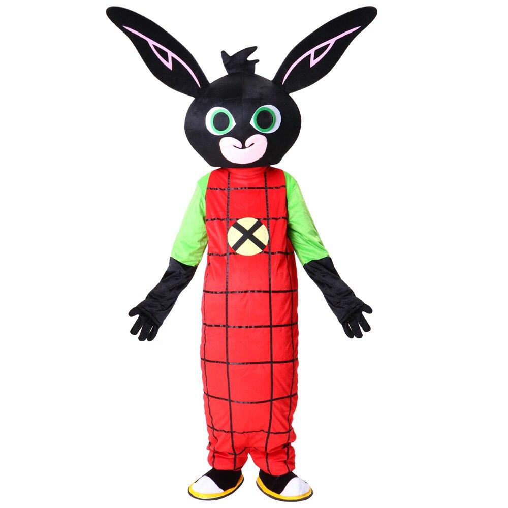 Nouveau costume de mascotte de lapin Bing déguisement Cosplay de noël pour événement de fête d'halloween