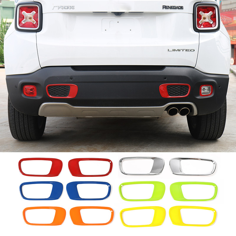MOPAI ABS Exterior Rear Bumper Tow Hook Decoration Stickers For Jeep Renegade 15 Up Car Styling atreus car styling trailer belt tow hook strap nylon ropes for mitsubishi asx suzuki subaru acura jeep renegade fiat 500 hyundai