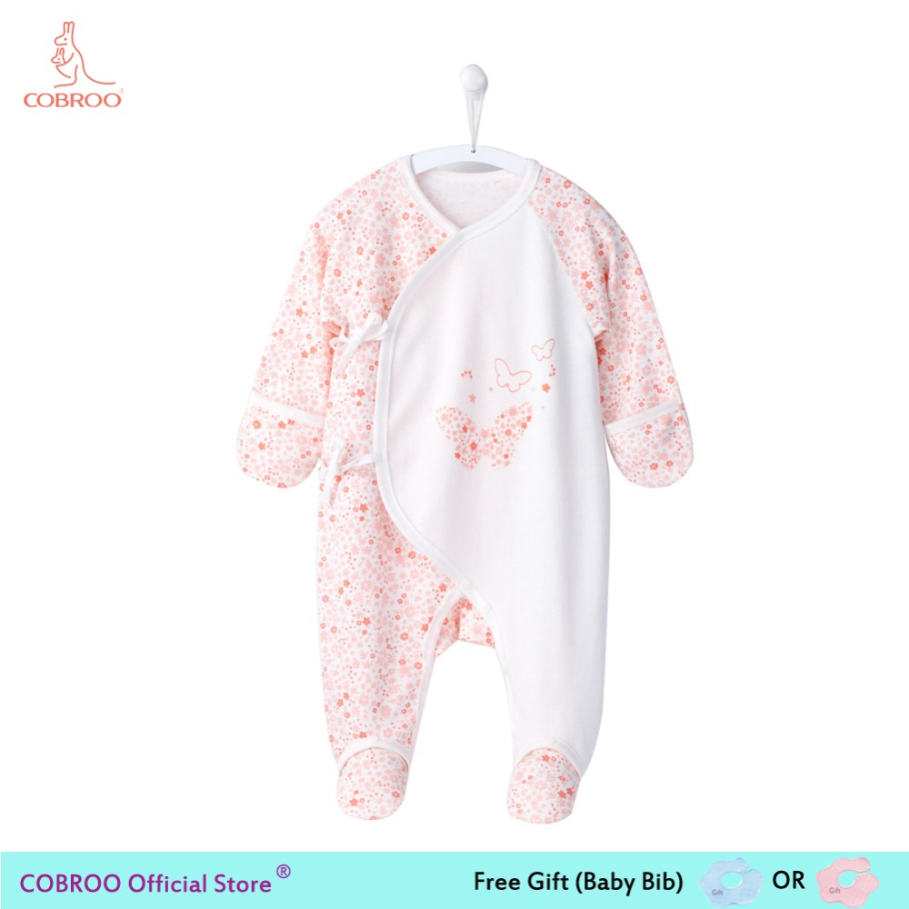 Baby Girls Coverall Tea Stain Around A Tree Infant Long Sleeve Romper Jumpsuit