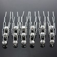Hot 20Pcs Sliver Wedding Party Bridal Crystal Rhinestone Diamante Clips Hairpin for Hair Style. 5VTV 7F13