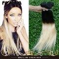 Бразильский девственные волосы ломбер два тона прямо переплетения блондин цвет 613 прямо девы человеческих 7a бразильский виргинский волосы прямые