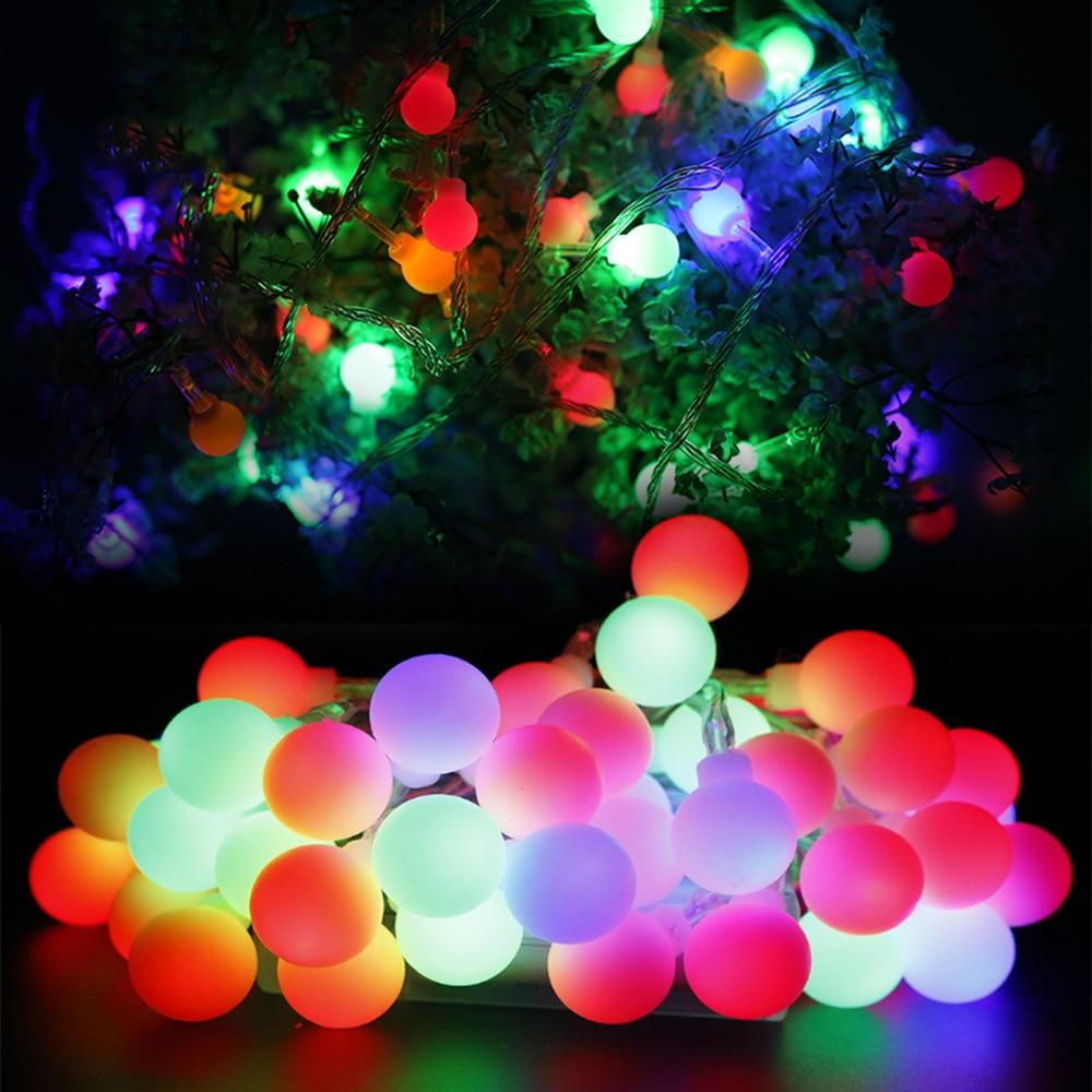 Led String Star Ball Led Light String 10-40Led Strip USB Battery Powered Fairy Garland Christmas Wedding Decoration 1.5-6M JQ
