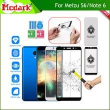 Mcdark 2.5D 9H vidrio templado para Meizu S6 Protector de pantalla Meizu Nota 6 templado teléfono película de cubierta de vidrio