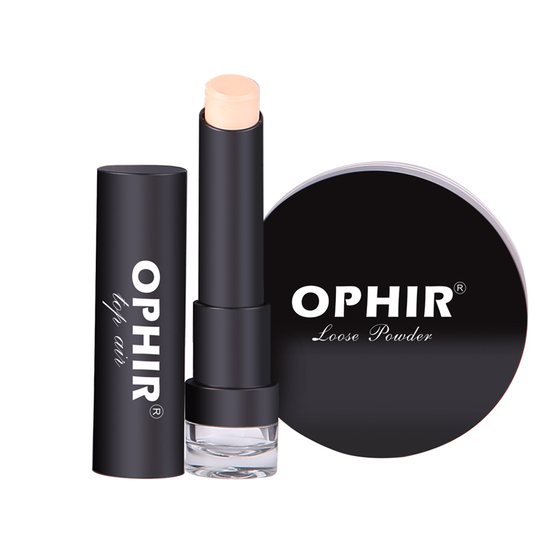 OPHIR 0 4mm Airbrush Makeup System Set with 3 Concealer Foundation 2 Blush 5 Eyeshadow Lipstick