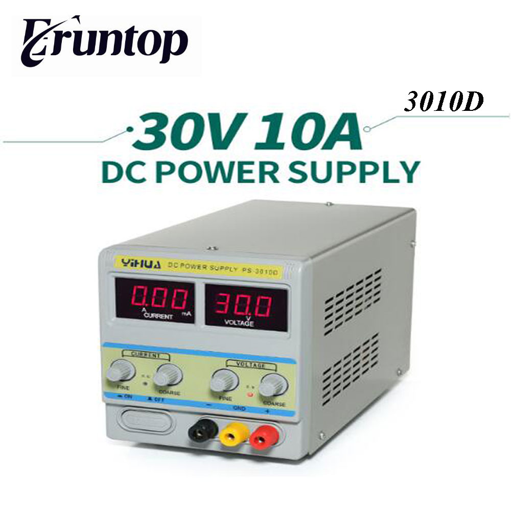 YIHUA 3010D 30V 10A Adjustable Regulated DC Power Supply for Computer Mobile Phone Repair Test mini switch mch k 3010d 30v 10a voltage regulator 220v dc adjustable power supply mobile phone laptop repair power