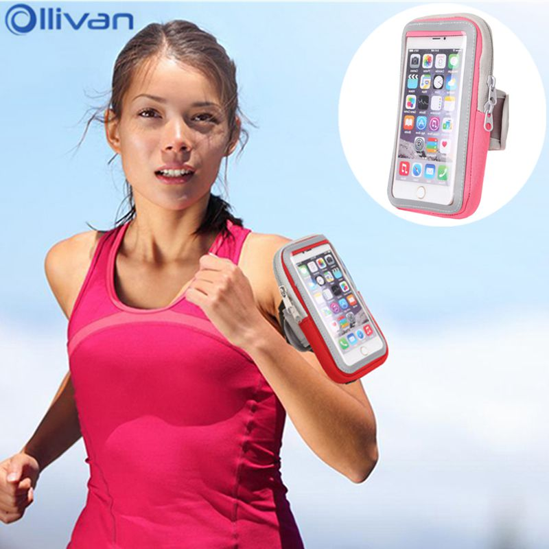 Ollivan Universal running bags arm wrist band hand sport phone running case for iphone xiaomi running holder pouch for women man ...