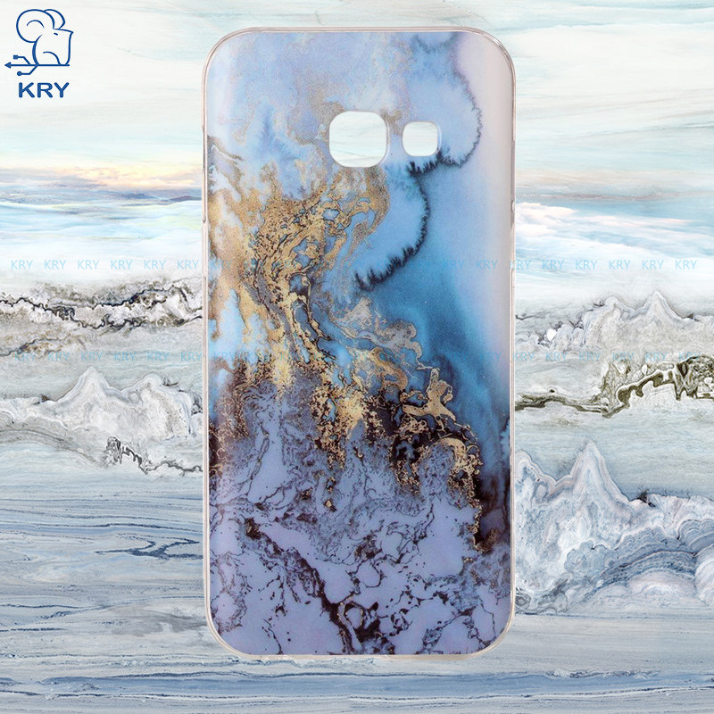 Galleria fotografica KRY Soft TPU Phone Cases for Samsung galaxy A3 2017 Case Coque Cover For SamSung A3 2017 Case Marble Stone image Painted Cases