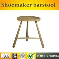 Free shipping U BEST Stylish design bar furniture walnut finish wood Shoemaker barstool,Midcentury modern furniture