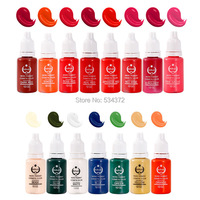 6pcs Free shipping permanent makeup ink pigment eyebrow lips ink 23 colors