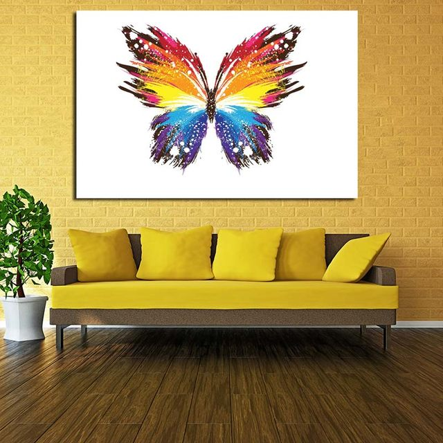 Online Shop Colorful Abstract Painting Animal Butterfly Painting ...