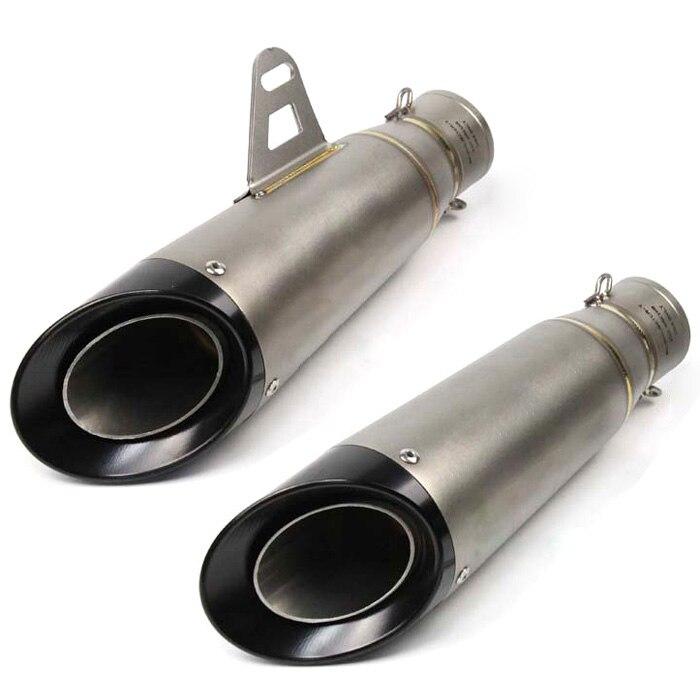 Universal Inlet 51mm Motorcycle Exhaust Pipe Muffler Stainless Steel Laser Marking Motorbike Muffler Exhaust Escape Slip On