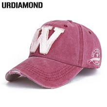 d60db07e7b8 Cotton Embroidery Letter W Baseball Cap Men Snapback Cap Hat Women Sports Baseball  Caps Bone Outdoor