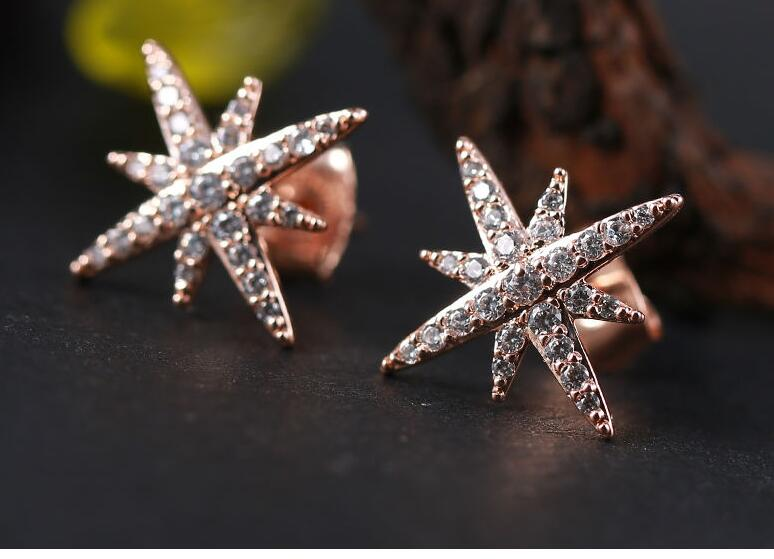 wholesale Mens Earrings New Stud Earrings inlaid with CZ simple David jewelry lady for women sterling-silver-jewelry