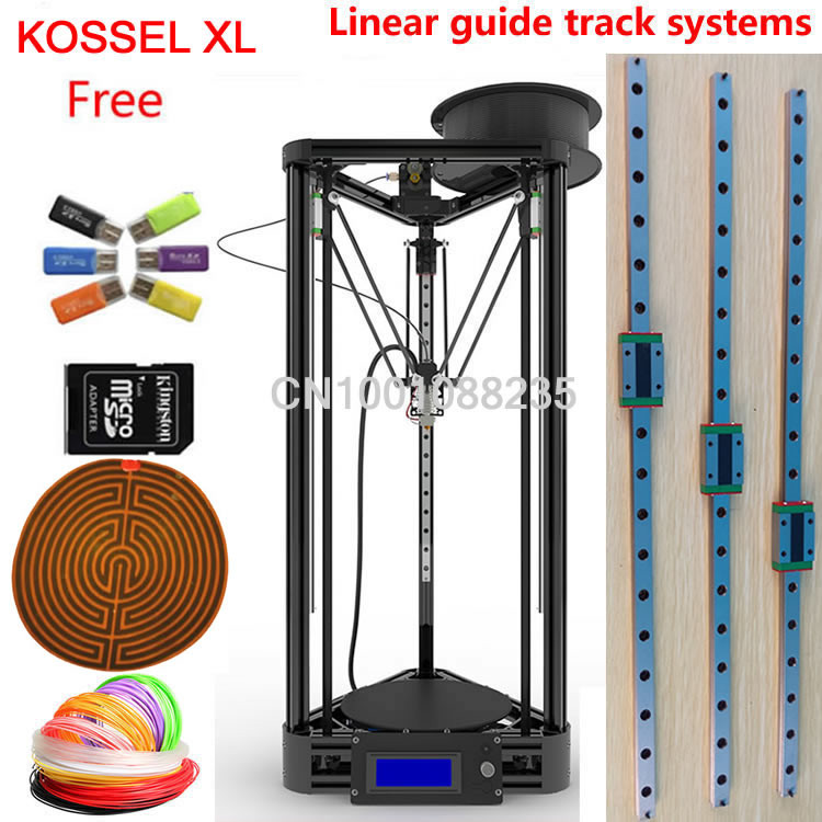free shipping linear guide auto leveling Delta Kossel Rostock k800 XL mini 3D Printer Kit
