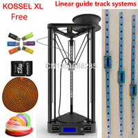free shipping linear guide auto leveling Delta Kossel Rostock k800 XL mini 3D Printer Kit