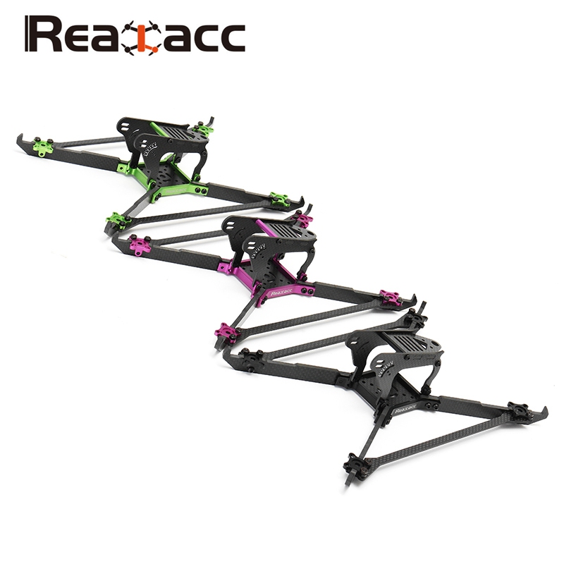 Realacc Real1S Stretch 5 Inch 4mm Thickness Vertical Arm CNC Carbon Fiber FPV Racing Frame for RC Drone Quadcopter Multirotors realacc kt100 100mm carbon fiber frame kit for rc quadcopter multirotor fpv camera drone x type frame accessories purple