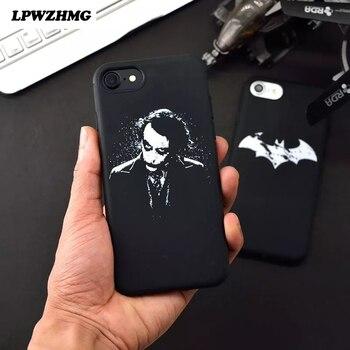 LPWZHMG Batman Dark Knight Joker Imprimé Souple TPU Mobile Téléphone Sacs Cas pour iPhone 7 7 Plus 6 6 S Plus Retour Housse Shell