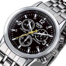 Nary marca de moda los hombres reloj de acero inoxidable calendario mujeres reloj casual de negocios reloj de pulsera de cuarzo reloj relogio masculino