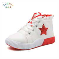 Kids Shoes For Girl Children Canvas Shoes Boys Candy Color Laces 2017 Spring Autumn White Sneakers