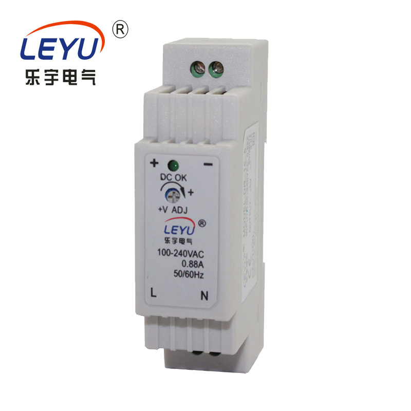 Easy to install DR-15 series single output <font><b>5V</b></font> 12V 24V din rail switching <font><b>power</b></font> <font><b>supply</b></font> image
