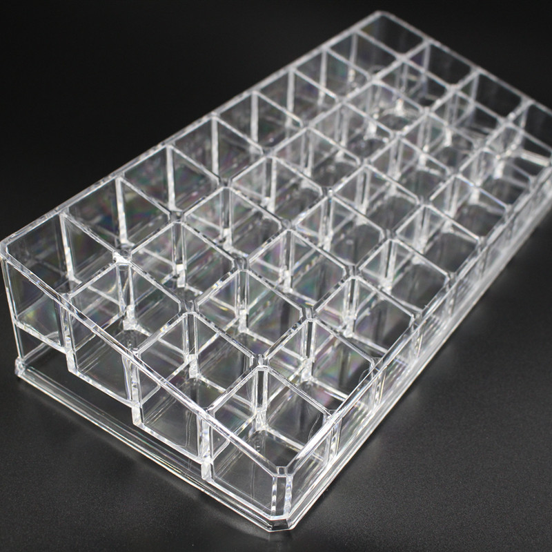 36 Grid Lipstick Holder Organizer Cosmetics Box Acrylic Makeup Storage Brush Holder Nail Polish Organizer