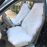 OKAYDA Australian Sheepskin 100 Natural Fur Car 1 Pcs Seat Covers Universal Size For Seat Cover