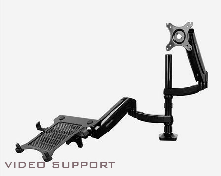 DLB504L2 Dual Notebook Mount Dual Mount Laptop Arms Monitor Arm Holder up to 24""
