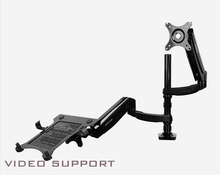 DLB504L2 Dual Notebook Mount Dual Mount Laptop Arms Monitor Arm Holder up to 24″