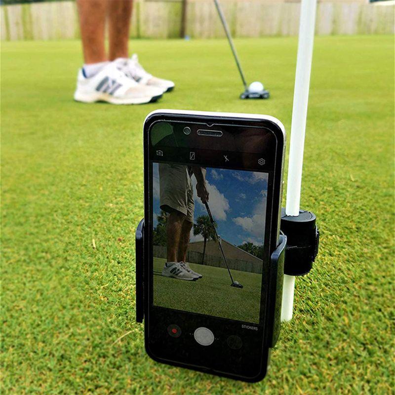Image 4 - OOTDTY гольф качели рекордер чехол для телефона клип держа тренажер комплект для тренировки-in Обучающие приспособления для гольфа from Спорт и развлечения