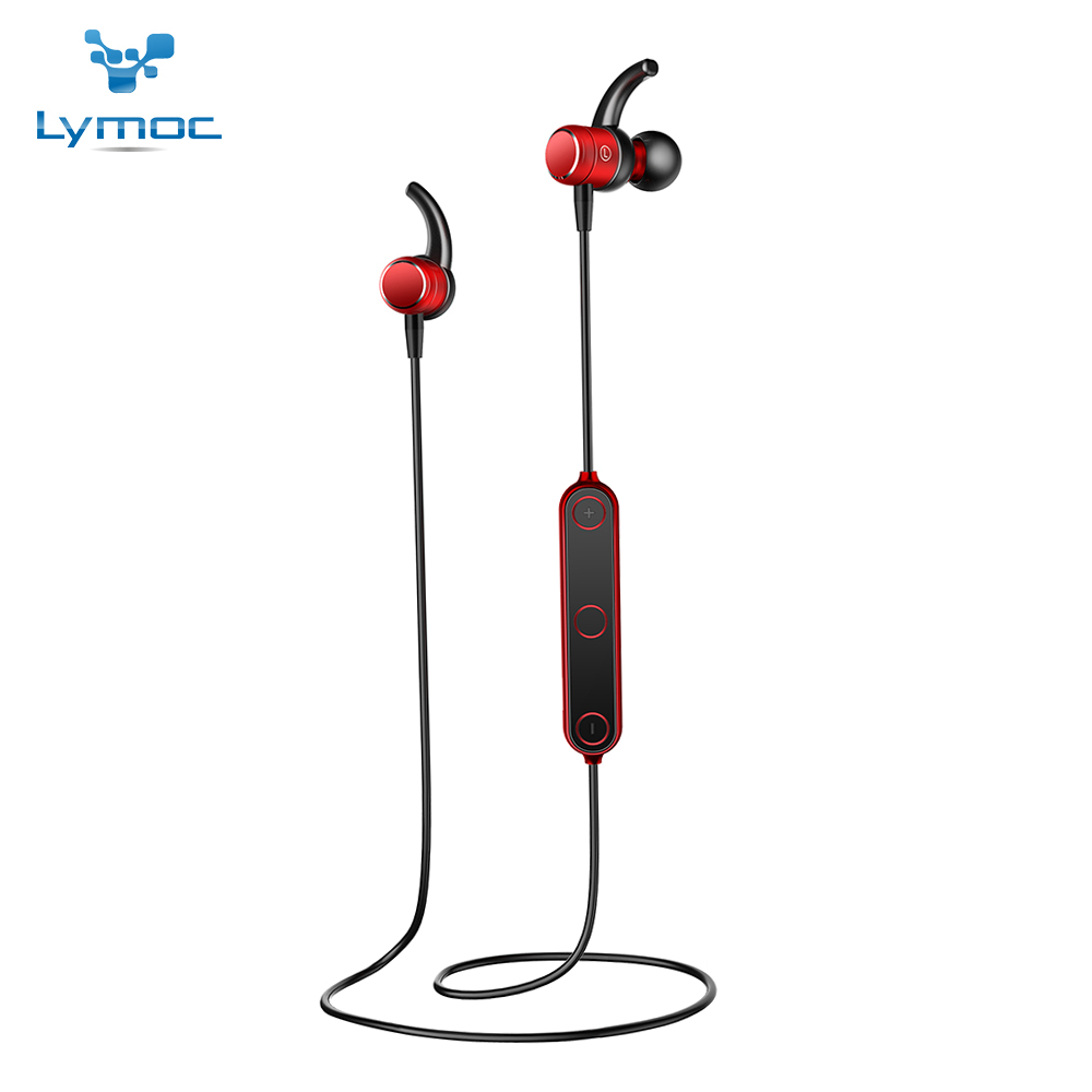 LYMOC Sport Bluetooth Earphone Metal Magnetic Switch Wireless Headset Running Noise Cancelling Phone Handsfree for iPhone Huawei lymoc wireless sport headset running bluetooth earphone ipx4 waterproof stereo headphones handsfree for iphone xiaomi samsung