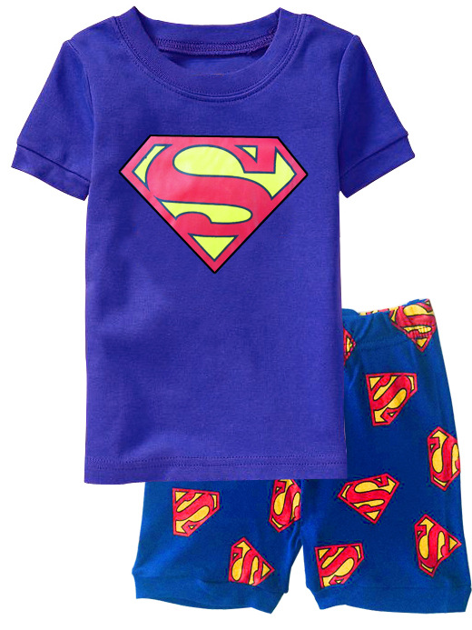 Summer 2019 Children's Pajamas Sets Cotton Baby Boys Short Sleeved Cartoon Sleepwear Kids Pyjama En