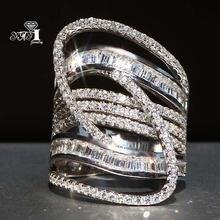 Yayi ювелирные изделия принцесса вырез 57 ct белый циркон серебряный
