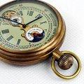 1882'S нью-йорк турбийон чистая медь антикварный карманные часы