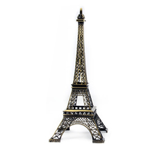 Paris Tower Metal Crafts Figurine Statue Model Home Decors