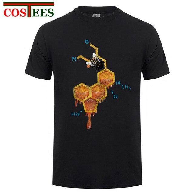 2017 Newest tshirt LSD Honey Bee Men T shirt Fashion Math Formula Design tops Humor Printed T-Shirt Funny Punk Hipster tee shirt