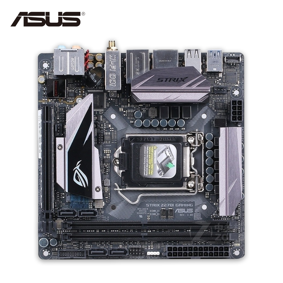 все цены на Asus ROG STRIX Z270I Gaming Original New Desktop Motherboard Z270 Socket LGA 1151 i7 i5 i3 DDR4 64G SATA3 USB3.1 Mini ITX онлайн